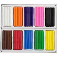 Пластилін зі стеком, 10 кольорів, 200г НеЗнайка Артикул: 832510, в коробці