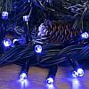 Гирлянда профессиональная светодиодная нить 100 LED 10м на черном проводе уличная цвет синий, фото 2