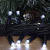 Гирлянда профессиональная светодиодная нить 100 LED 10м на черном проводе уличная цвет белый, фото 2