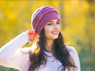 Вязаные шапки для женщин Марта
