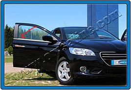Окантовка стекол (без задней форточки, 6 шт, нерж) - Peugeot 3008 2008-2016 гг.