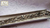 Тяжелая мужская серебряная цепочка LOUIS VUITTON, фото 1