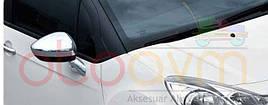 Накладки на зеркала (2 шт, нерж.) - Opel Crossland X