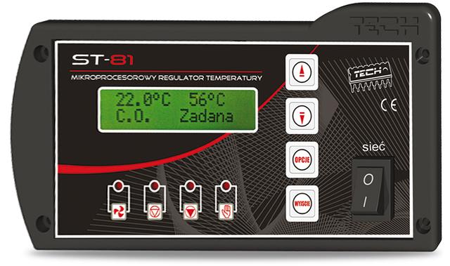 Автоматика для твердотопливных котлов Tech ST-81 Sigma