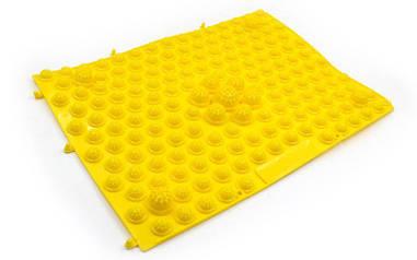 Килимок-пазл ортопедичний масажний гумовий (1шт) жовтий ZD-4601