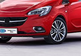 Накладки на противотуманки (2 шт, нерж) - Opel Corsa E 2015+ гг.