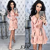 Женское платье с рюшами на запах 5 цветов, фото 1