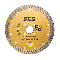 6 дюймов Сегментированный алмазный алмазный турбопильный пильный диск для резки гранитного бетонного камня 1TopShop