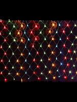 Cветодиодная новогодняя LED гирлянда CЕТКА 2Х2, сетка, водопад, нити, сосульки,водопады, ассор-т