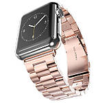 Металевий ремінець Primo Steel годин Apple Watch 42mm / 44mm - Rose Gold, фото 2