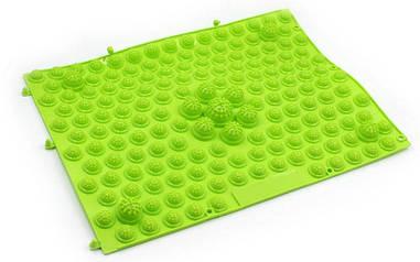 Килимок-пазл ортопедичний масажний гумовий (1шт) зелений ZD-4601