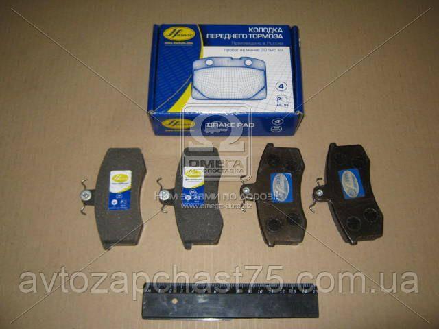Колодка тормозная передняя ВАЗ 2108,2109,21099,2110,2113,2114,2115 комплект 4шт. Производство НАЧАЛО