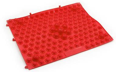 Килимок-пазл ортопедичний масажний гумовий (1шт) червоний ZD-4601