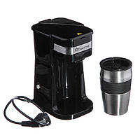 Кофеварка Domotec с термостаканом MS-0709, фото 1