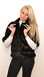 Женский полушубок рукав 3/4 искусственный мех под норку (от 42 до 56 размера) vN3260, фото 4