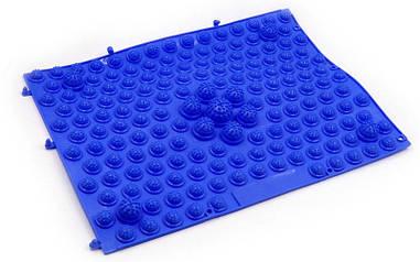 Килимок-пазл ортопедичний масажний гумовий (1шт) синій ZD-4601