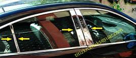 Молдинг дверных стоек (нерж) - Opel Insignia 2017+ гг.
