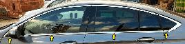 Окантовка стекол (8 шт, нерж) - Opel Insignia 2017+ гг.