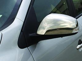 Накладки на зеркала (2 шт, нерж.) - Renault Laguna 2007+ гг.