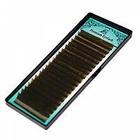 Ресницы LEX коричневые (CС 0,07) отдельные длины от 8-13 мм