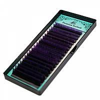 Ресницы омбре LEX фиолетовые кончики (С 0.10 микс) 7-12 мм.