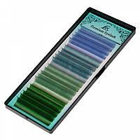 Ресницы LEX синие (СC 0.07) микс четыре цвета