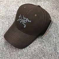 Зимние шерстяные кепки бейсболки ARCTERYX Размер регулируется сзади Уплотненные козырек верх Код: КГ6546