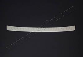 Накладка на задний бампер (нерж) - Peugeot 5008 2017+ гг.