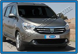 Накладки на решетку (4 шт, нерж.) - Renault Lodgy 2013+ гг.