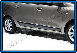 Молдинг дверной (4 шт, нерж.) - Renault Lodgy 2013+ гг.
