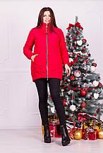 Куртка зимняя красная