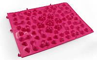 Коврик-пазл ортопедический массажный резиновый (1шт) розовый ZD-5082