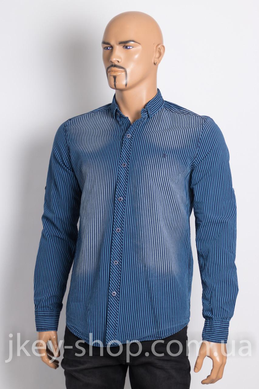 Рубашка с длинным рукавом мужская FBI FACTOR 7004-003 NAVY STRIPE