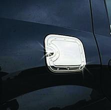 Накладка на лючок бензобака (нерж.) - Renault Logan II 2008-2013 гг.