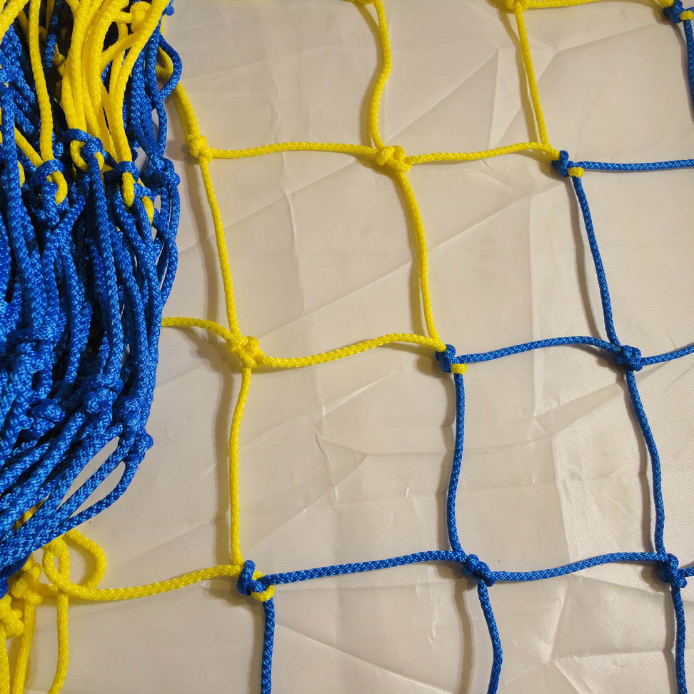 Сетка для футзала, гандбола «ЭКСКЛЮЗИВ» желто-синяя (комплект из 2 шт.)