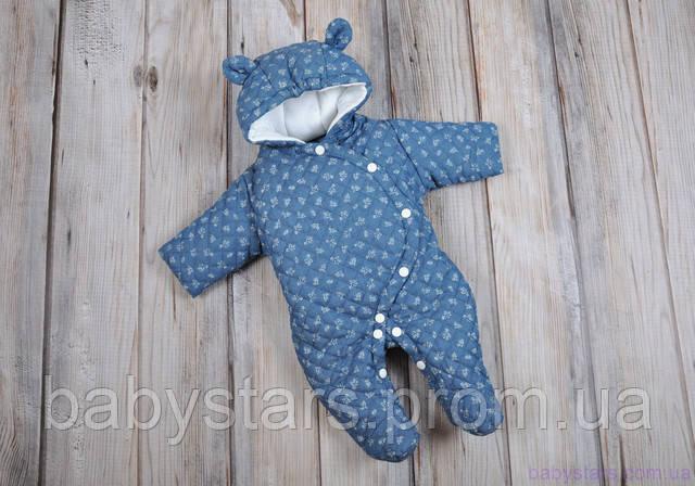 детские демисезонные комбинезоны для новорожденных