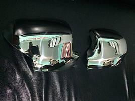 Накладки на зеркала (2 шт, нерж.) - Renault Logan III 2013+ гг.