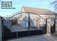 Кована брама з хвірткою 12910 , фото 1