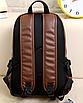 Рюкзак мужской кожаный Radim коричневый, фото 2