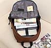 Рюкзак мужской кожаный Radim коричневый, фото 5