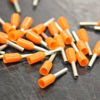 Наконечник Weidmueller на провод, Один Провод, 20 AWG, 6 мм, 12 мм, Оранжевый (500 шт.) - 9028260000