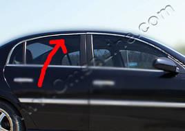 Верхняя окантовка стекол (4 шт, нерж) - Opel Vectra C 2004+ гг.