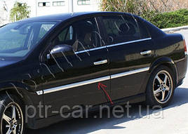 Накладки на молдинги дверей (4 шт, нерж) - Opel Vectra C 2004+ гг.