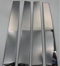 Хром на дверні стійки (6 шт, нерж) - Opel Vectra C 2004+ рр.