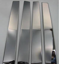 Хром на дверные стойки (6 шт, нерж) - Opel Vectra C 2004+ гг.