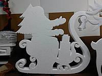 Дед Мороз на санях 110 см на 100 см толщ 10см