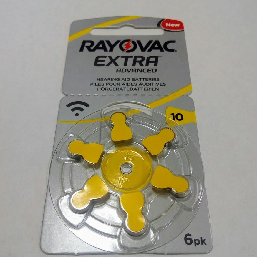 Батарейки для слухових апаратів Rayovac 10