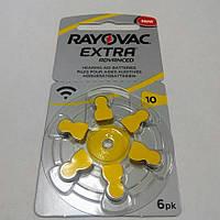 Батарейки до слухових апаратів Rayovac 10
