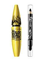 Maybelline набор (тушь ColoSsal Smoky+тени-карандаш Master Smoky)