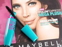 Maybelline набор (тушь Mega Plush + смывка)